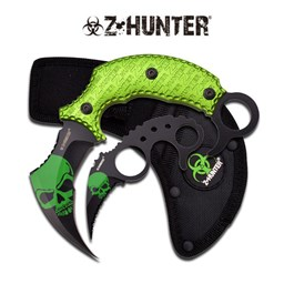 Bild von Z-Hunter - Green Skull Karambit Set